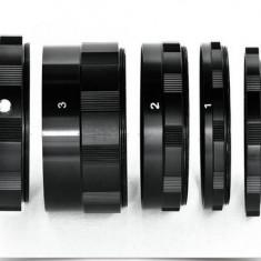 Tub macro, Set tuburi macro de extensie (inele macro) pentru Nikon Ai AF - Inel macro obiectiv foto