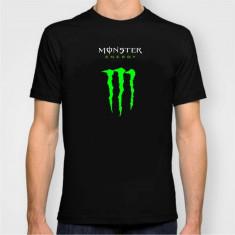 OFERTA! Tricou Casual Monster Energy Negru / Verde - Tricou barbati, Marime: S, M, L, XL, Culoare: Rosu, Maneca scurta, Bumbac