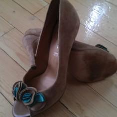 SUPERBE Sandale piele intoarsa ~ bej ~ BENVENUTI ~ mar. 37