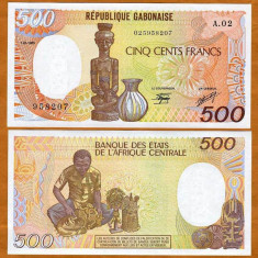 GABON 500 FRANCI 1985 UNC