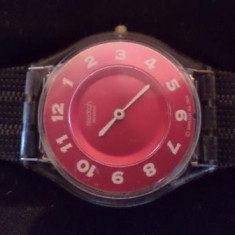 Vand ceas Swatch, Swiss Made, 2004, Water Resistant - Ceas dama Swatch, Casual, Quartz, Piele, Analog, 2000 - prezent