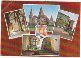 CP circulata 1989,Hunedoara,castelul huniazilor,colaj