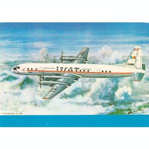 Carte postala ,avion de pasageri IL18,Romania.
