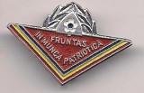 Insigna-FRUNTAS IN IN MUNCA PATRIOTICA, Romania de la 1950