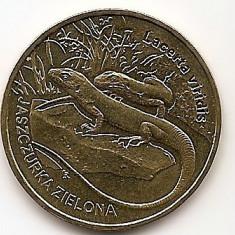 Polonia 2 Zloti 2009 (comemorativa: Green Lizard) KM-678 UNC !!!, Europa