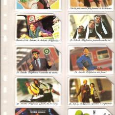 Lot 10 cartele telefonice Italia, reclama la cartele, film - Al 5-lea element, trenuri - lot colectie
