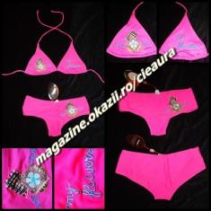 COSTUM DE BAIE DAMA 2 PIESE SLIP BRAZILIAN FUCSIA ROZ SICLAM NEON FOSFORESCENT COLECTIE NOUA COSTUME CICLAM FEMEI PLAJA, Marime: 42, 44, Culoare: Fuchsia, Doua piese, Bikini