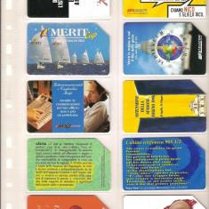 Lot 10 cartele telefonice Italia, Sf. Valentin, festivalul de poezie Venetia, diverse - lot colectie