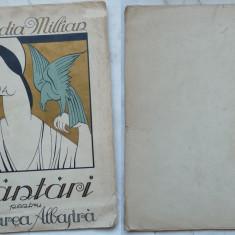 Claudia Millian , Cantari pentru Pasarea Albastra , 1922 , editia 1 cu autograf, Alta editura