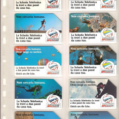 Lot 10 cartele telefonice Italia, cosmos, deltaplan, munte, pesteri, baloane - lot colectie