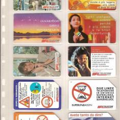 Lot 10 cartele telefonice Italia, publicitare, diverse. - lot colectie