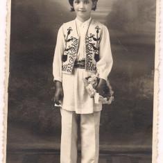 Carte postala(foto)-OLT - SLATINA -costum popular - Carte Postala Muntenia dupa 1918, Necirculata, Fotografie