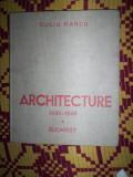 Arhitectura 1930-1940(textul este in limba franceza)/an 1946-Duiliu Marcu