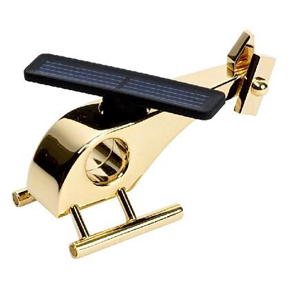 Elicopter cu panou solar suflat cu aur de 24 de karate