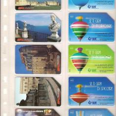 Lot 10 cartele telefonice Italia, monumente istorice pe regiuni si cartele vechi '94 - '96 - lot colectie