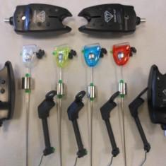 Set 4 avertizori-senzori diamant cu 4 swingere mk starleti - Avertizor pescuit