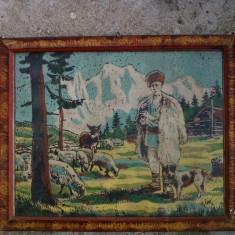 goblen tablou. ciobanas cu oi