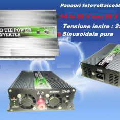 INVERTOR ON GRID 500 W PANOURI FOTOVOLTAICE ALTERNATIVA REGULATOR CONTROLLER SOLAR - ECONOMIZOR CURENT ELECTRIC