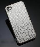 Carcasa Glamour ARGINTIE pentru iPhone 4/4s - aluminiu rezistent