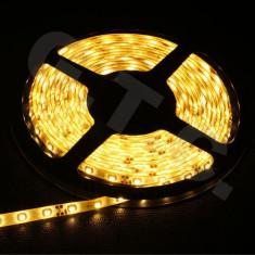 Banda LED ZDM alb cald izolatie apa SMD 3528 120 LED/m 5 metri auto decorari mobila