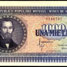1000 LEI 1950 UNC - Bancnota romaneasca