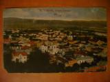Carte postala Ramnicu Valcea Vedere Generala circulata 1921 ed Galeria de Cadouri Maier & Stern Bucuresti Romania interbelica carta Rimnicu Vilcea