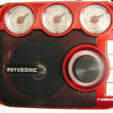 MP3 PLAYER ROTOSONIC CU CITITOR DE STICK USB SI CARD, RADIO FM DIGITAL, LANTERNA LED.MP3 PLAYER RETRO. SUPER., Negru
