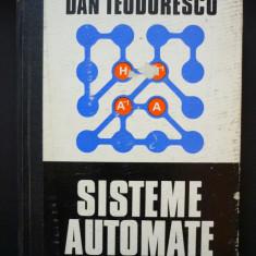 Sisteme Automate - Dan Teodorescu - Carte retelistica