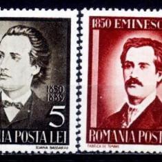 Romania 1939 - Eminescu, serie completa, neuzata - Timbre Romania