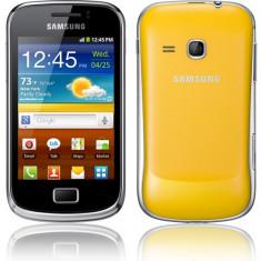 Vand schimb samsung galaxi mini 2 - Telefon mobil Samsung Galaxy Mini 2, Portocaliu, Neblocat