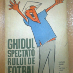 ghidul spectatorului de fotbal petre gatu fan sport hobby 1963 RPR desene matty