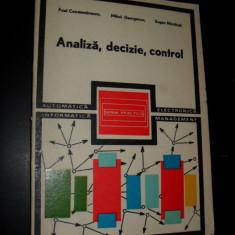 Analiza, decizie, control, Paul Constantinescu , Mihai Georgescu , Eugen Nastasel
