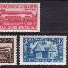 Romania 1944 - Caminul Radaseni,serie completa,neuzata