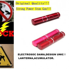 ELECTROSOC DAMA ASCUNS IN RUJ,FII IN SIGURANTA ORIUNDE+LANTERNA+ACUMULATOR.