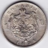 3)Moneda argint 1 leu 1894