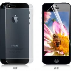 Folie protectie telefon transparenta lucioasa, fata-spate iPhone 5, 5s, SE - Folie de protectie Apple, Mata