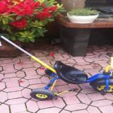 Tricicleta cu maner fabricata in Germania - Tricicleta copii, 12-24 luni, Unisex, Bleumarin