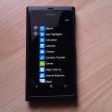 Nokia lumia 800 sau schimb cu iphone 4s - Telefon mobil Nokia Lumia 800, Negru, Neblocat