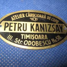 Reclama Petru Kanizsay carucioare copii Timisoara. - Reclama Tiparita