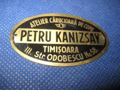 Reclama Petru Kanizsay carucioare copii Timisoara. foto