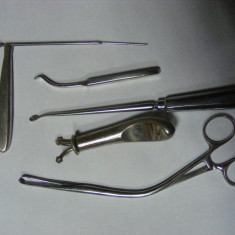USTENSILE SI DISPOZITIVE MEDICALE VINTAGE, VECHI SCULE STOMATOLOGIE, CHIRURGIE, ETC.