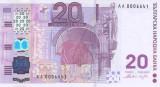 Bancnota Bulgaria 20 Leva (2005) - P121 UNC ( hibrid hartie/ polimer)
