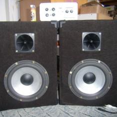 2 Boxe negri-gri cu amplificator 2x35 W, homemade