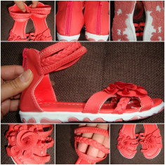 Sandale pt fetite elegante,NOI,CORAI=NR=28.MODEL SUPERBBB, Fete