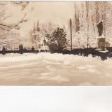 Bnk cp Caracal - Vedere din parc - uzata - Carti Postale Romania dupa 1918