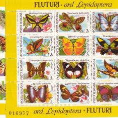 TIMBRE ROMANIA 2 BLOCURI   FLUTURI 1991