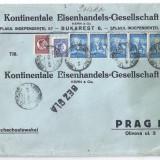 Scrisoare Mare-Straif de 6 timbre Carol calare-Externa