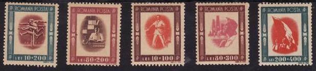 Romania 1946 - Tineretul progresist,serie completa,neuzata