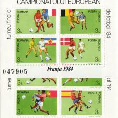 TIMBRE ROMANIA CAMPIONATUL EUROPEAN  DE FOTBAL 1984