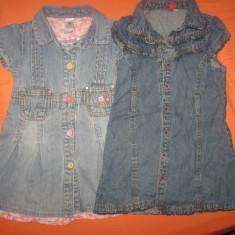 Set doua rochite Baby club, din jeans, noi, pt. 3-4 ani, Marime: 30, Culoare: Albastru
